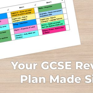 Your GCSE Revision Plan Made Simple