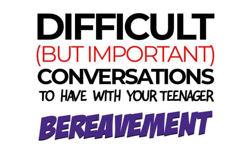 difficult conversations - bereavement