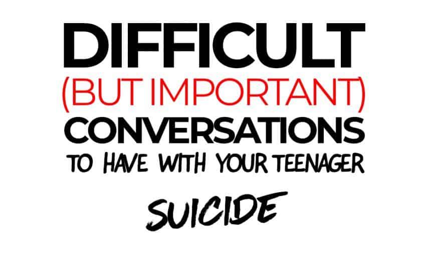 Difficult Conversations - suicide