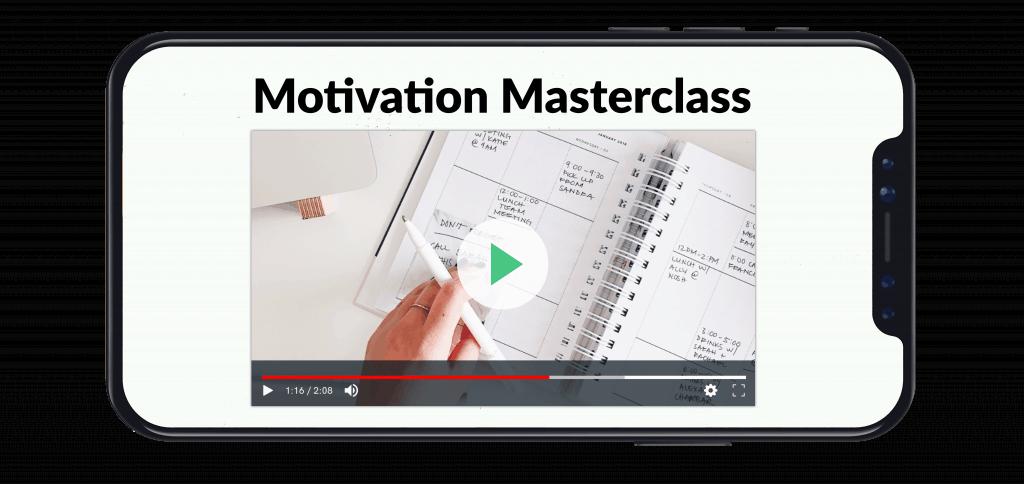 Motivation masterclass on a phone